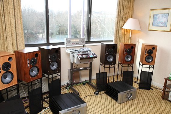 Graham Audio       demonstration room at the 2014 Bristol Sound & Vision show